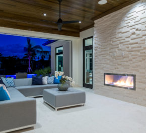 Entertaining Area W/ Fireplace